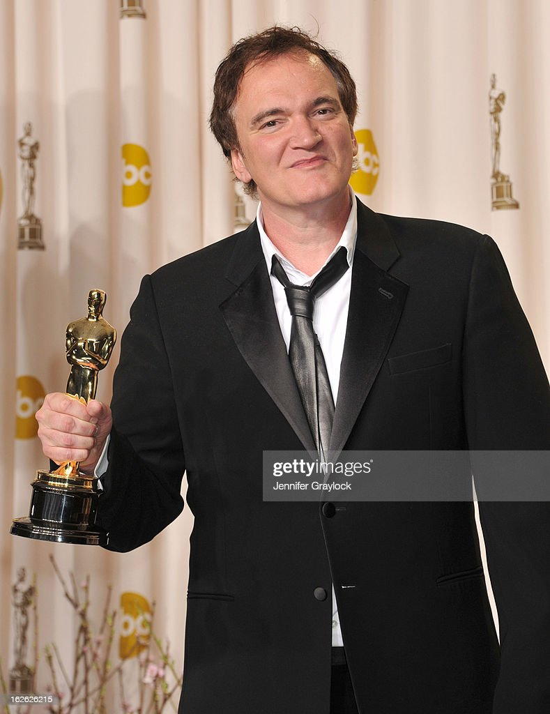 <a gi-track='captionPersonalityLinkClicked' href=/galleries/search?phrase=Quentin+Tarantino&family=editorial&specificpeople=171796 ng-click='$event.stopPropagation()'>Quentin Tarantino</a> arrives to the 85th Annual Academy Awards Press Room held at Hollywood & Highland Center on February 24, 2013 in Hollywood, California.