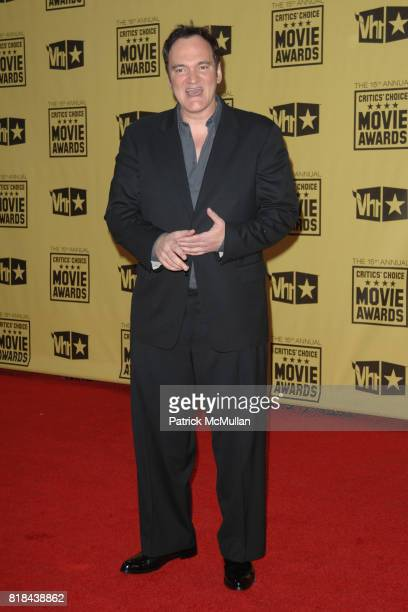 Quentin Tarantino attends 2010 Critics Choice Awards at The Palladium on January 15 2010 in Hollywood California