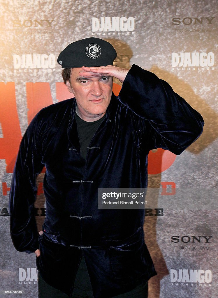<a gi-track='captionPersonalityLinkClicked' href=/galleries/search?phrase=Quentin+Tarantino&family=editorial&specificpeople=171796 ng-click='$event.stopPropagation()'>Quentin Tarantino</a> attends a photocall for 'Django Unchained' at Le Grand Rex on January 7, 2013 in Paris, France.