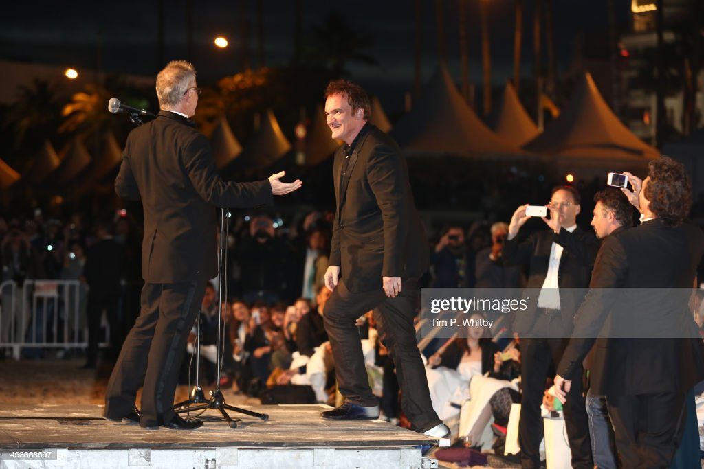 <a gi-track='captionPersonalityLinkClicked' href=/galleries/search?phrase=Quentin+Tarantino&family=editorial&specificpeople=171796 ng-click='$event.stopPropagation()'>Quentin Tarantino</a> attends a screening of Pulp Fiction at the 67th Annual Cannes Film Festival on May 23, 2014 in Cannes, France.