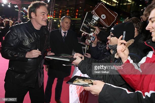 Quentin Tarantino attends 'Django Unchained' Berlin Premiere at Cinestar Potsdamer Platz on January 8 2013 in Berlin Germany