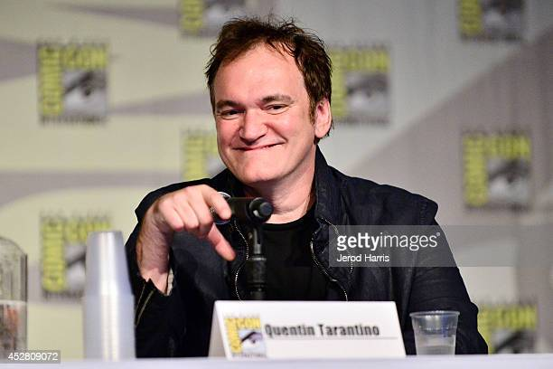 Quentin Tarantino attends Dynamite 10th Anniversary Panel Comic Con International 2014 at San Diego Convention Center on July 27 2014 in San Diego...