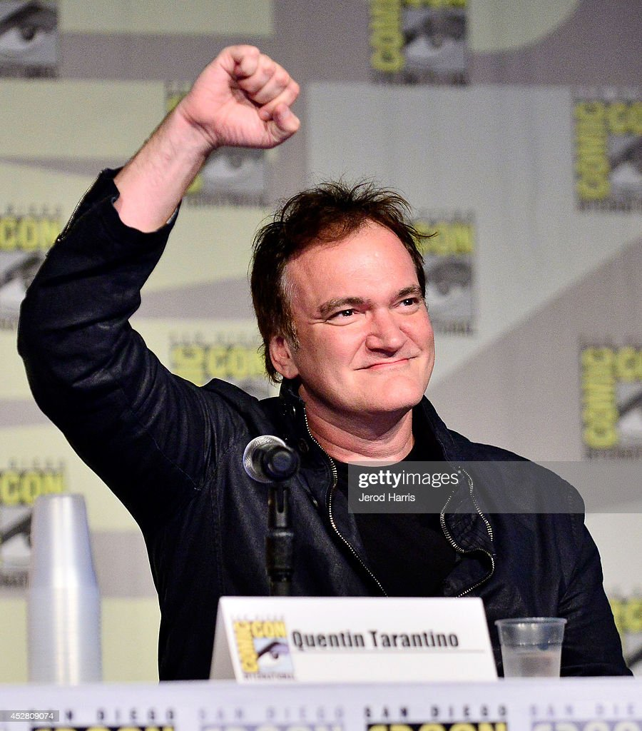 <a gi-track='captionPersonalityLinkClicked' href=/galleries/search?phrase=Quentin+Tarantino&family=editorial&specificpeople=171796 ng-click='$event.stopPropagation()'>Quentin Tarantino</a> attends Dynamite 10th Anniversary Panel - Comic Con International 2014 at San Diego Convention Center on July 27, 2014 in San Diego, California.