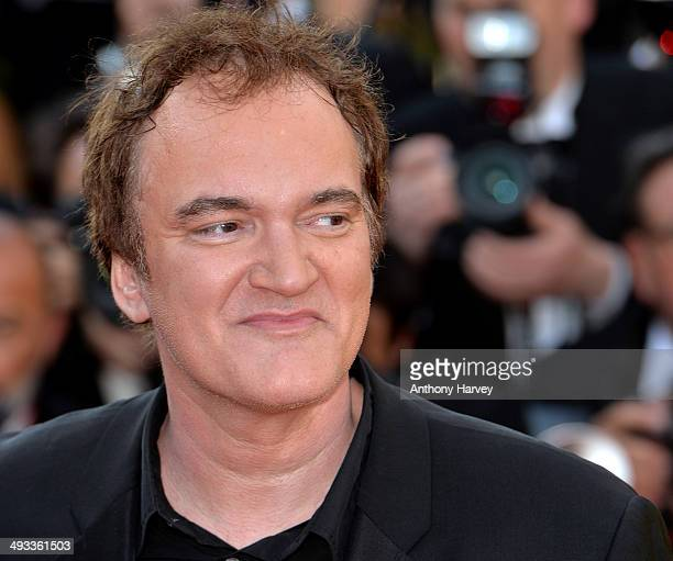 Quentin Tarantino attends the 'Clouds Of Sils Maria'premiere at the 67th Annual Cannes Film Festival on May 23 2014 in Cannes France