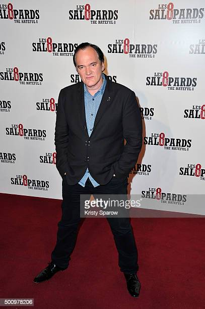 Quentin Tarantino attends the 'The Hateful Eight' Paris Premiere at Le Grand Rex on December 11 2015 in Paris France