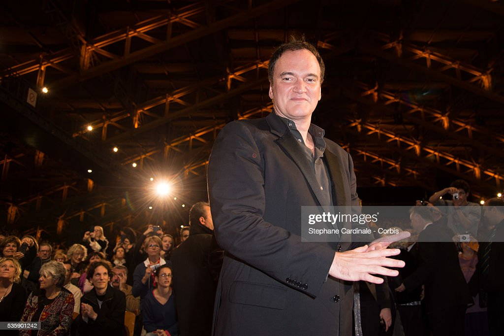 Quentin Tarantino attends the Tribute to Jean Paul Belmondo and Opening Ceremony of the Fifth Lumiere Film Festival, in Lyon.