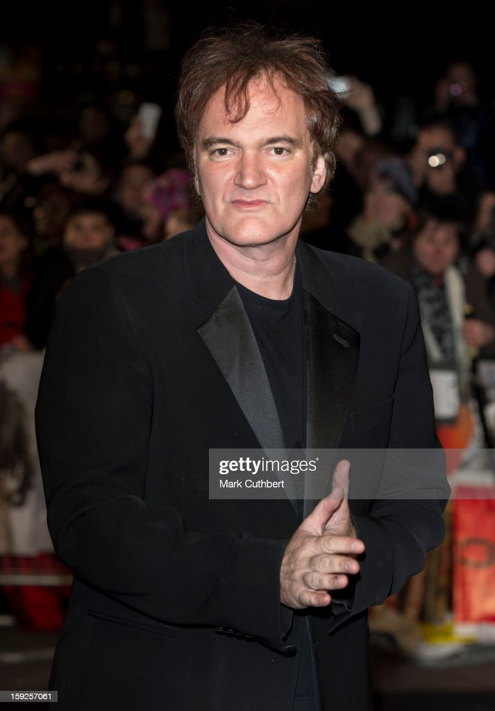 <a gi-track='captionPersonalityLinkClicked' href=/galleries/search?phrase=Quentin+Tarantino&family=editorial&specificpeople=171796 ng-click='$event.stopPropagation()'>Quentin Tarantino</a> attends the UK premiere of 'Django Unchained' at Empire Leicester Square on January 10, 2013 in London, England.