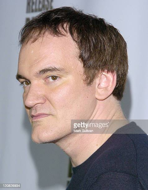 Quentin Tarantino during 'Kill Bill Vol 1' DVD Release Party at The Playboy Mansion in Holmby Hills California United States