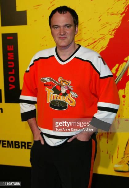 Quentin Tarantino during 'Kill Bill Volume 1' Premiere in Paris at Grand Rex Theater in Paris France