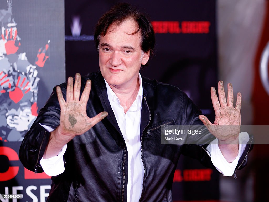 <a gi-track='captionPersonalityLinkClicked' href=/galleries/search?phrase=Quentin+Tarantino&family=editorial&specificpeople=171796 ng-click='$event.stopPropagation()'>Quentin Tarantino</a> Immortalized With Hand And Footprint Ceremony at TCL Chinese Theatre on January 5, 2016 in Hollywood, California.