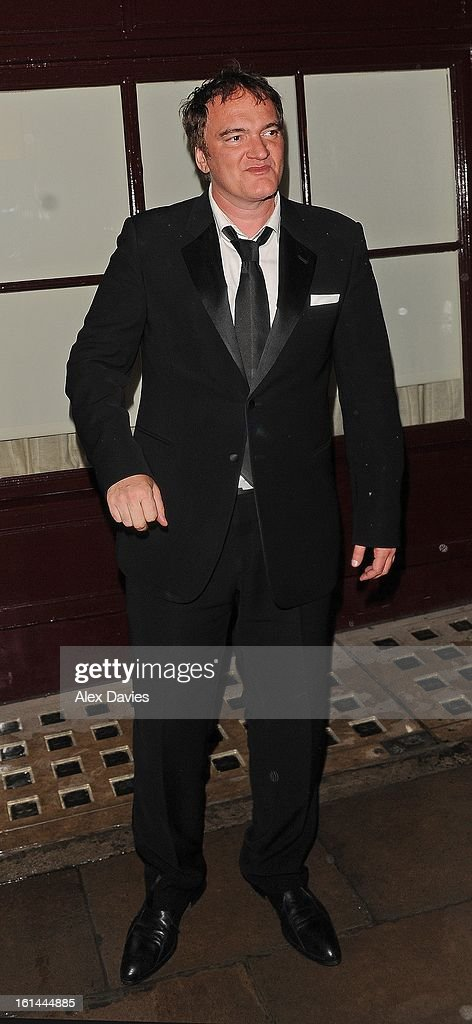 Quentin Tarantino on February 10, 2013 in London, England.