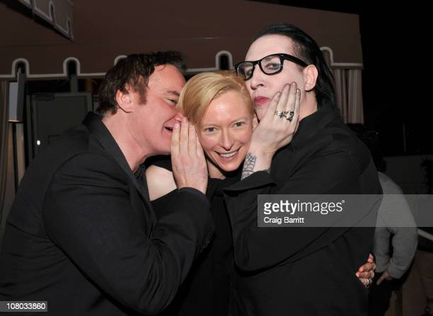 Quentin Tarantino Tilda Swinton and Marilyn Manson attend the 'I Am Love' Reception hosted by Magnolia Pictures And Quentin Tarantino at Sunset Tower...
