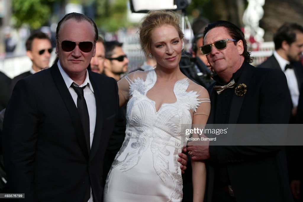 Quentin Tarantino, Uma Thurman and Michael Madsen attend the Closing Ceremony and 'A Fistful of Dollars' screening during the 67th Annual Cannes Film Festival on May 24, 2014 in Cannes, France.