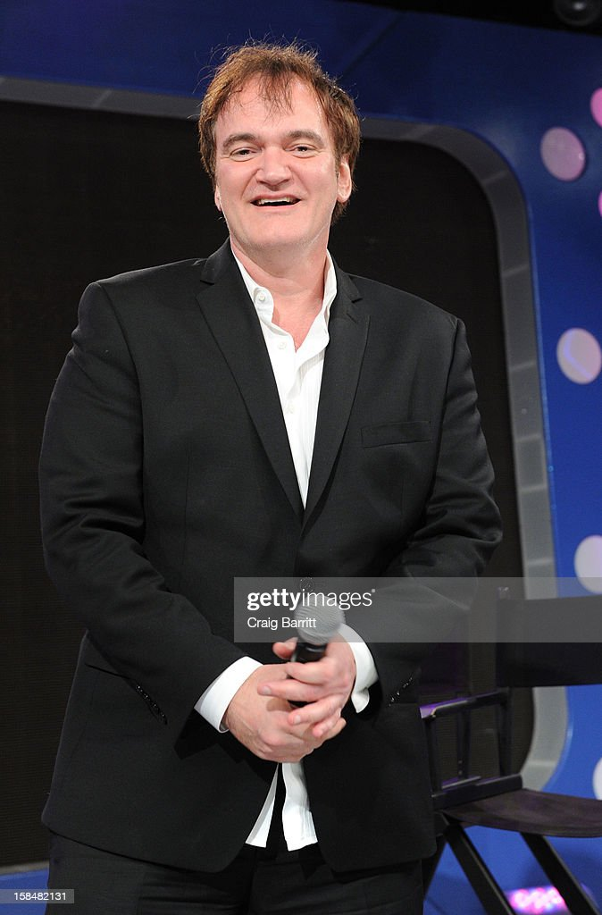 Quentin Tarantino visits BET's '106 & Park' at 106 & Park Studio on December 14, 2012 in New York City.