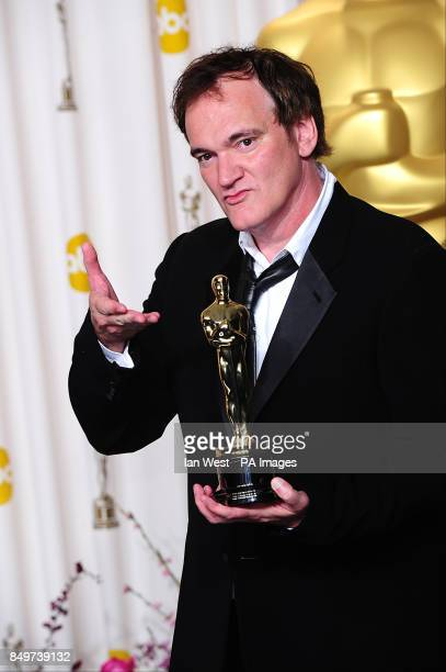 Quentin Tarantino with the oscar for best original screenplay reveived for Django Unchained at the 85th Academy Awards at the Dolby Theatre Los...