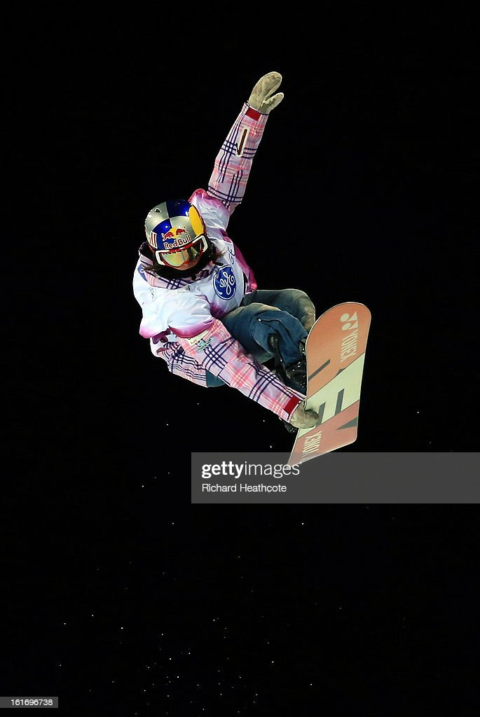 Querait Castellet of Spain in action during the womens FIS World Cup Snowboard Half Pipe competition at the Rosa Khutor Extreme Park in Krasnya Polyana on February 14, 2013 in Sochi, Russia. Sochi is preparing for the 2014 Winter Olympics with test events across the venues.