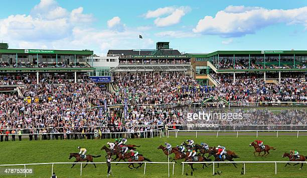 Quest For More under jockey George Baker wins the John Smiths Northumberland Plate during The Northumberland Plate Meeting at High Gosforth Park on...