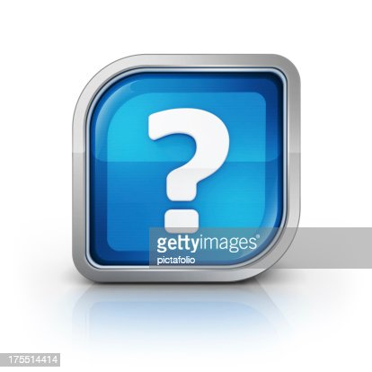 question mark 3d glossy icon