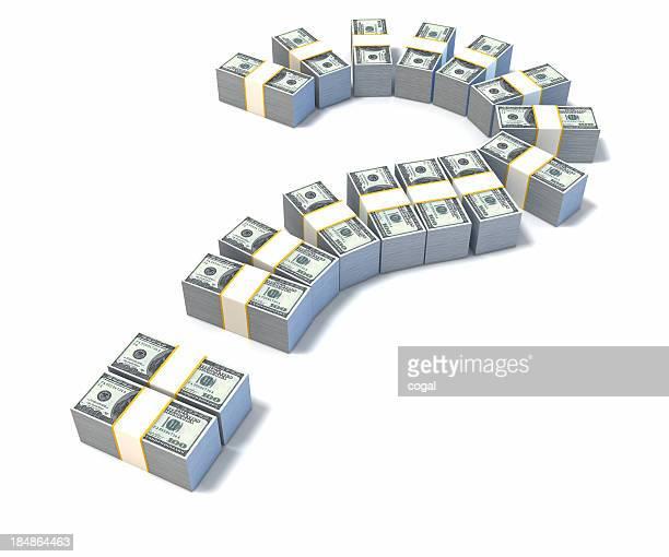 疑問符ドル紙幣で作られています。