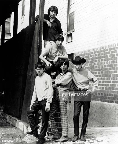 Photo of Question Mark Mysterians and AND THE MYSTERIANS Posed group portrait of and the Mysterians
