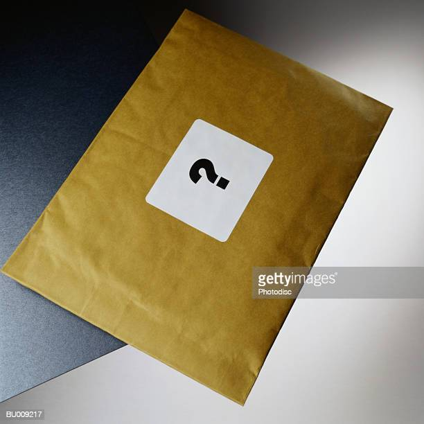 Question Mark on Padded Envelope