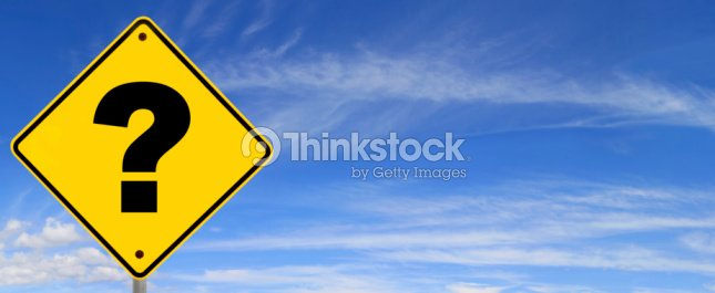 Question Mark Road Sign : Stock Photo
