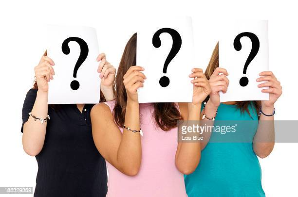 Question Mark Sign In Front Of Face