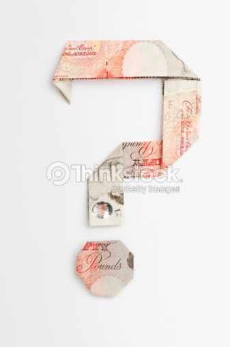 Question Mark Symbol Made Of Folded Banknotes Stock Photo Thinkstock