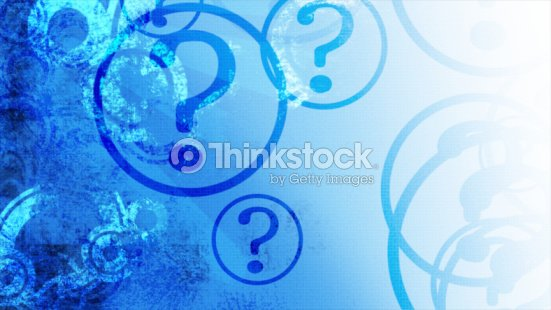 Question marks on blue gradient : Stock Photo