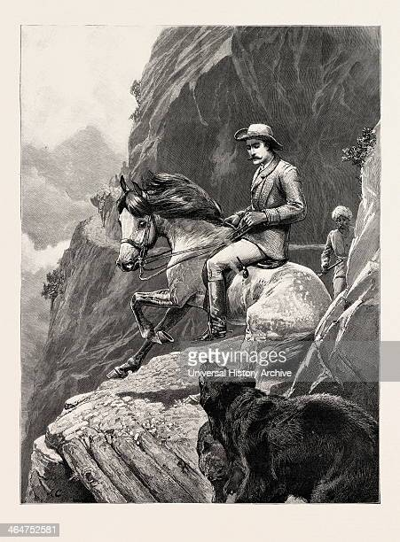 A Mountain Incident In Cashmere Kashmir India 1892 Engraving