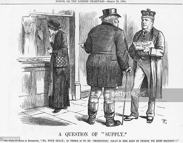 'A Question of Supply' 1884 John Bull the representative of the British people tells the Duke of Richmond quite plainly that the proposed Cattle Bill...