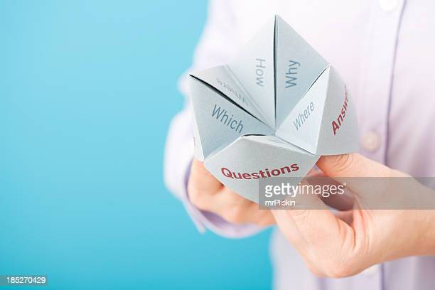 origami fortune teller stock photos and pictures getty
