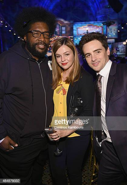Questlove Amber Tamblyn and Vincent Piazza attend HBO's 'Boardwalk Empire' Season Five Premiere After Party at Cipriani on September 3 2014 in New...
