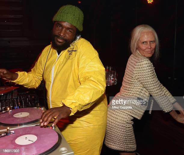 Questlove and Heidi Klum attend Shutterfly Presents Heidi Klum's 14th Annual Halloween Party sponsored by SVEDKA Vodka and smartwater at Marquee on...