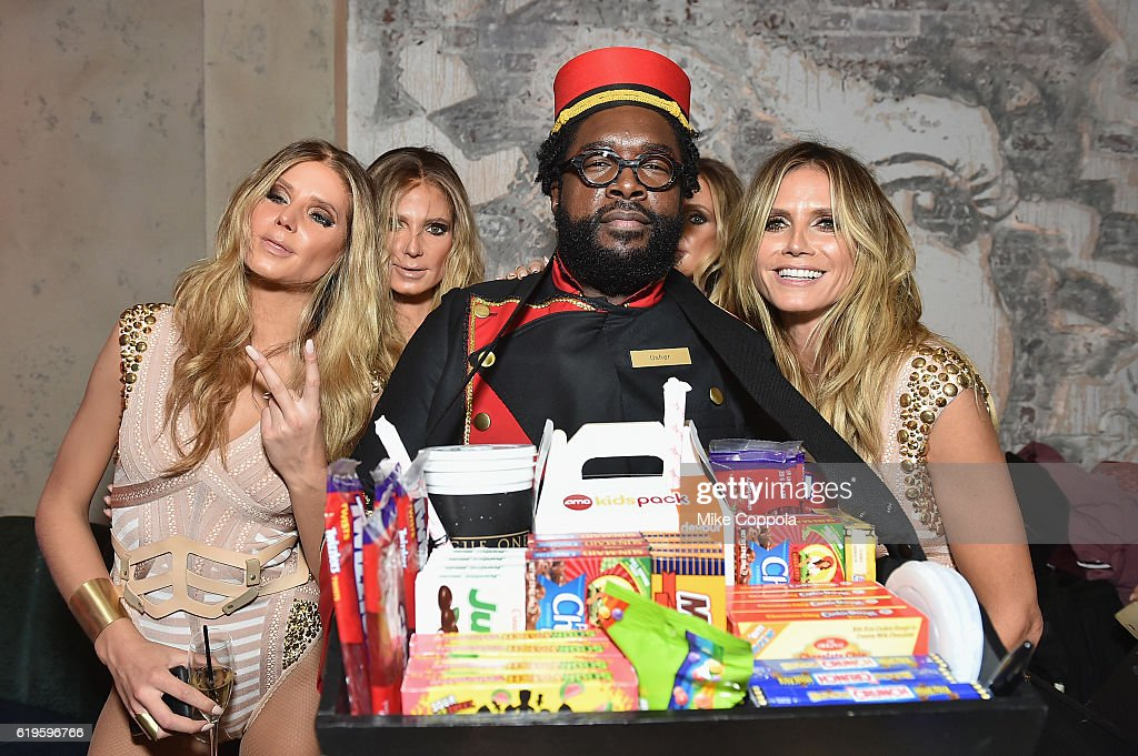 Questlove and model Heidi Klum (R) attend Heidi Klum's 17th Annual Halloween Party sponsored by SVEDKA Vodka at Vandal on October 31, 2016 in New York City.