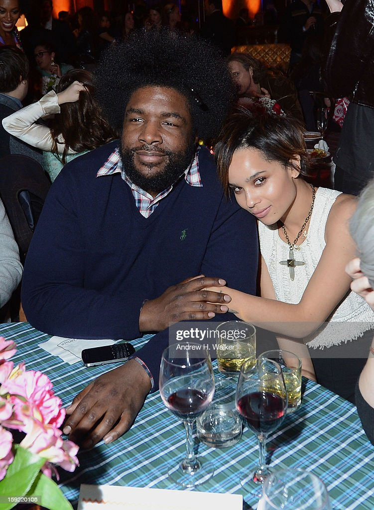 <a gi-track='captionPersonalityLinkClicked' href=/galleries/search?phrase=Questlove&family=editorial&specificpeople=537550 ng-click='$event.stopPropagation()'>Questlove</a> and <a gi-track='captionPersonalityLinkClicked' href=/galleries/search?phrase=Zoe+Kravitz&family=editorial&specificpeople=680250 ng-click='$event.stopPropagation()'>Zoe Kravitz</a> attend the 'Girls' Season 2 After Party hosted by HBO at Capitale on January 9, 2013 in New York City.