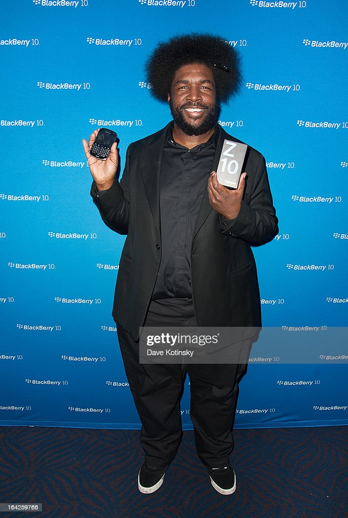 <a gi-track='captionPersonalityLinkClicked' href=/galleries/search?phrase=Questlove&family=editorial&specificpeople=537550 ng-click='$event.stopPropagation()'>Questlove</a> attends BlackBerry Z10 Launch Event at Best Buy Theater on March 21, 2013 in New York City.
