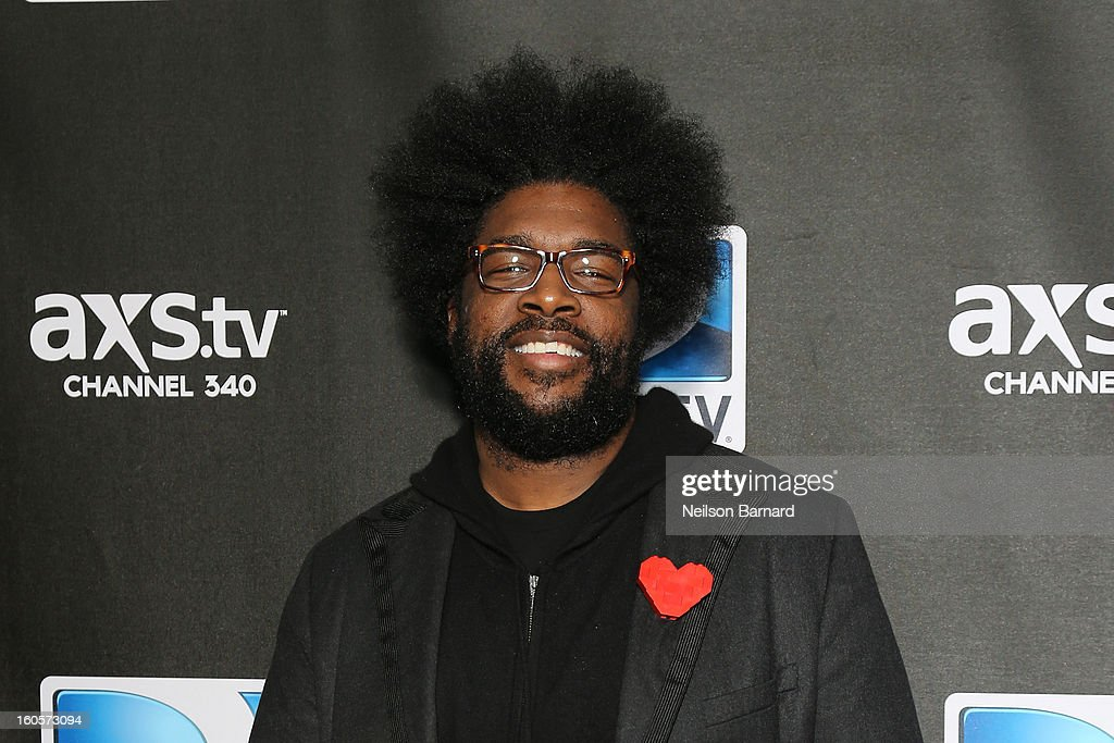 <a gi-track='captionPersonalityLinkClicked' href=/galleries/search?phrase=Questlove&family=editorial&specificpeople=537550 ng-click='$event.stopPropagation()'>Questlove</a> attends DIRECTV Super Saturday Night Featuring Special Guest Justin Timberlake & Co-Hosted By Mark Cuban's AXS TV on February 2, 2013 in New Orleans, Louisiana.