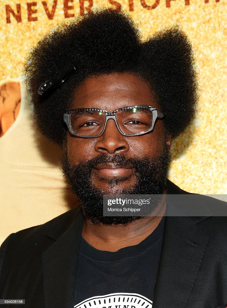 <a gi-track='captionPersonalityLinkClicked' href=/galleries/search?phrase=Questlove&family=editorial&specificpeople=537550 ng-click='$event.stopPropagation()'>Questlove</a> attends 'Popstar: Never Stop Never Stopping' New York Premiere at AMC Loews Lincoln Square 13 theater on May 24, 2016 in New York City.