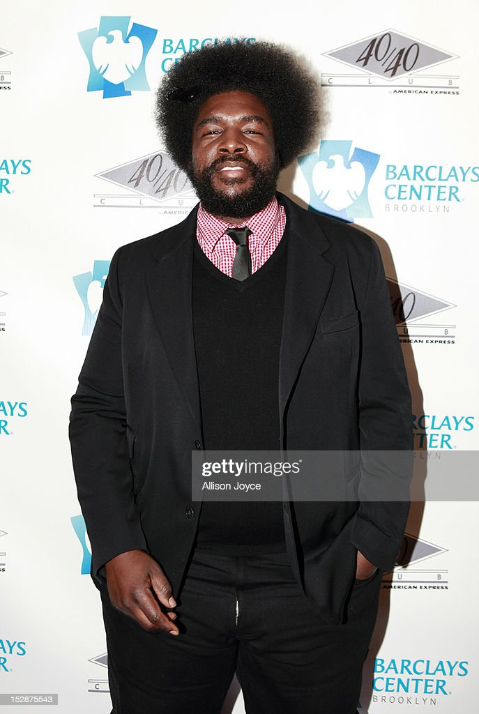 <a gi-track='captionPersonalityLinkClicked' href=/galleries/search?phrase=Questlove&family=editorial&specificpeople=537550 ng-click='$event.stopPropagation()'>Questlove</a> attends the grand opening of the 40/40 Club at Barclays Center on September 27, 2012 in the Brooklyn borough of New York City.