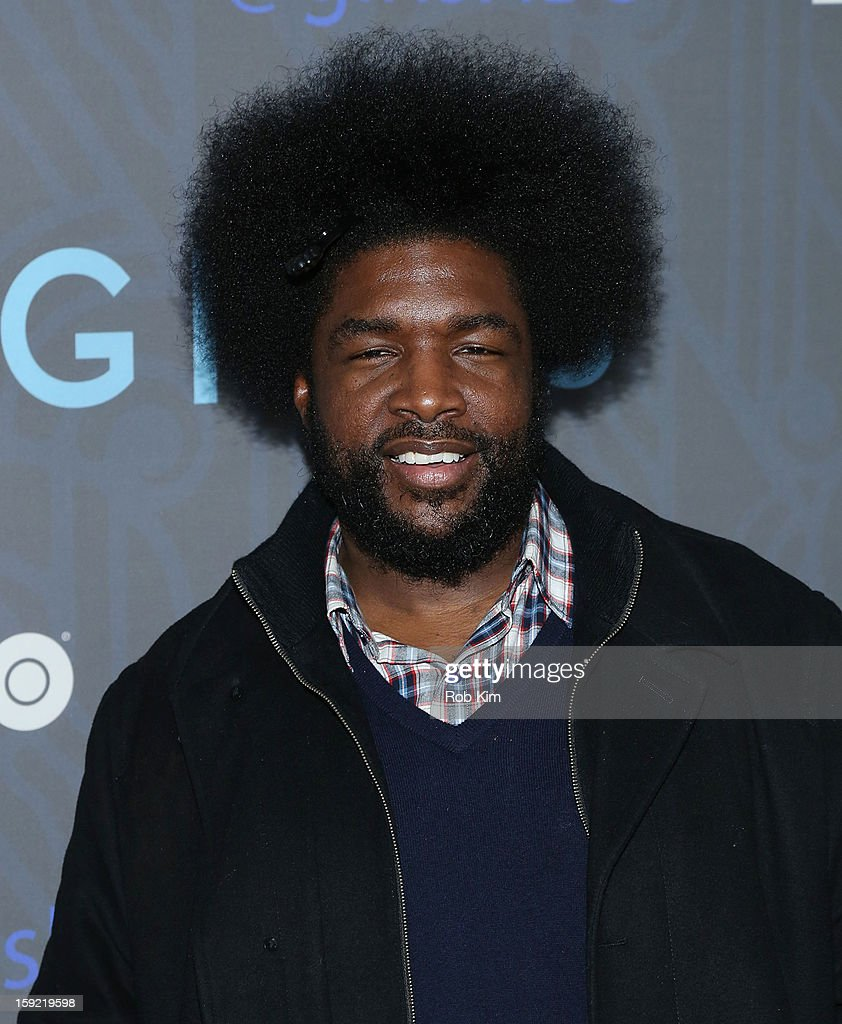 <a gi-track='captionPersonalityLinkClicked' href=/galleries/search?phrase=Questlove&family=editorial&specificpeople=537550 ng-click='$event.stopPropagation()'>Questlove</a> attends the HBO 'Girls' season 2 premiere at the NYU Skirball Center on January 9, 2013 in New York City.