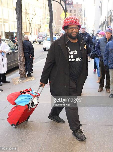 Questlove is seen walking in Midtown on January 4 2016 in New York City