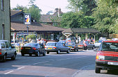 Queue for petrol in fuel crisis 2000 at Beaulieu Hampshire 2000