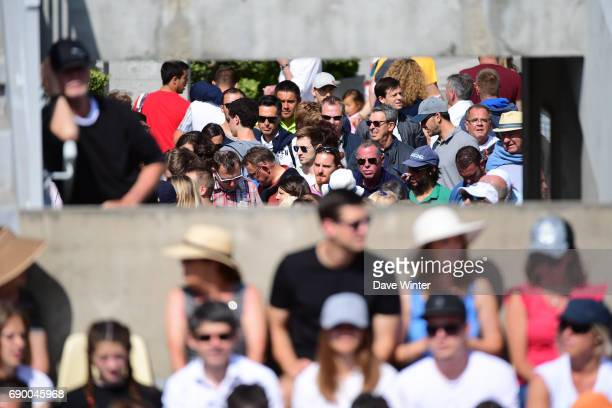 Queues build for Court 2 during day 3 of the French Open at Roland Garros on May 30 2017 in Paris France