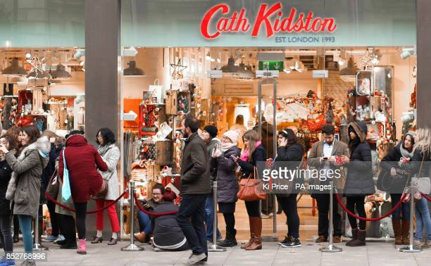 Queues outside the opening of Cath Kidston flagship store on Piccadilly in London