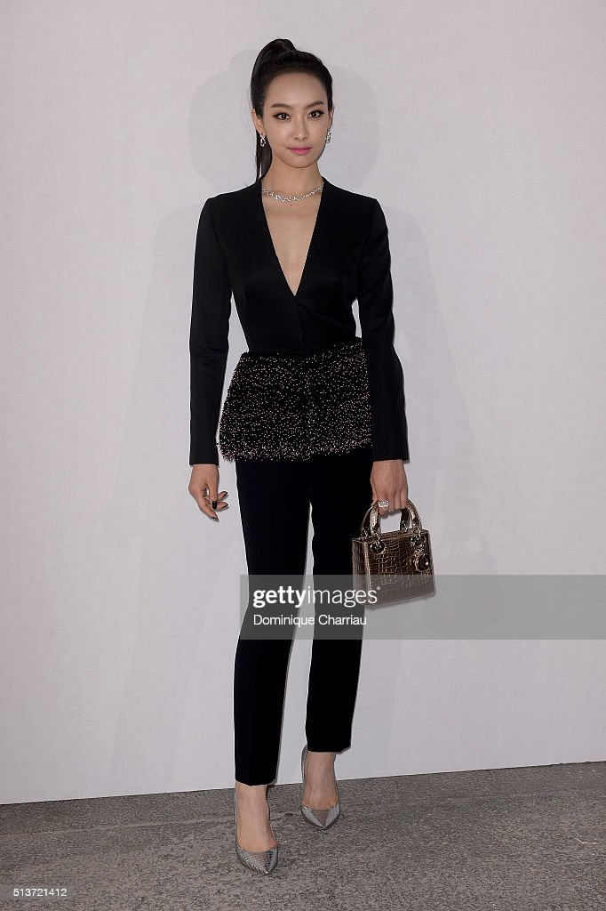 Quian Song attends the Christian Dior show as part of the Paris Fashion Week Womenswear Fall/Winter 2016/2017 on March 4, 2016 in Paris, France.