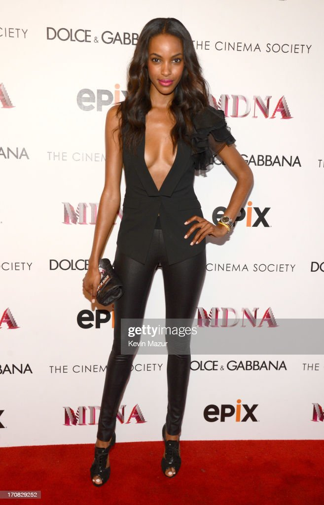 Quiana Grant attends the Dolce & Gabbana and The Cinema Society screening of the Epix World premiere of 'Madonna: The MDNA Tour' at The Paris Theatre on June 18, 2013 in New York City.