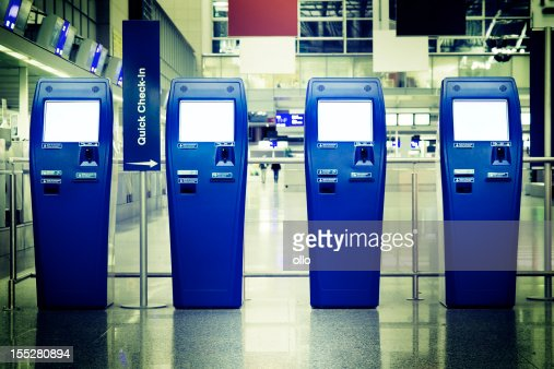Quick Check-In counters at the airport