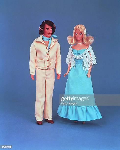 A 1977 Quick Curl Ken doll stands next to Barbie in this studio portrait On March 13 Mattel toy company celebrated the 40th anniversary of the Ken...