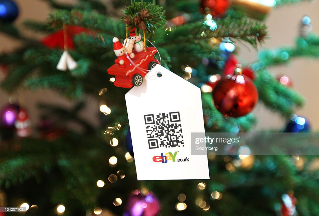 christmas tree decorations shop online part 22 a quick response qr code is seen hanging from a christmas tree decoration at - Christmas Tree Shop Online